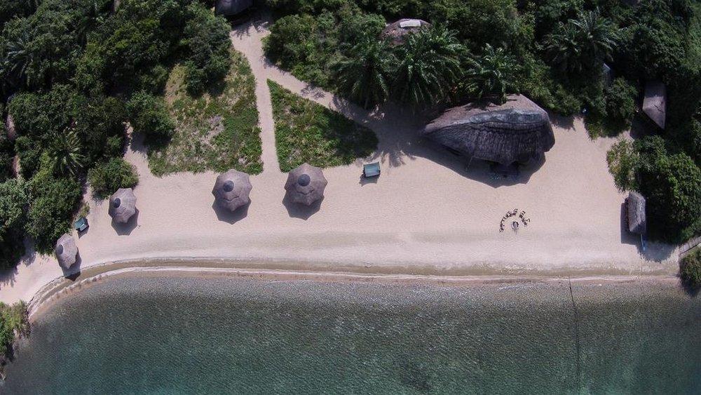 Kungwe Beach Lodge | Kungwe Birds Eye View