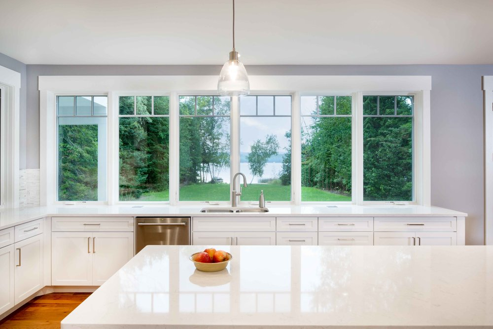 Waterfront Custom Home by Birchwood Construction Company in Harbor Springs
