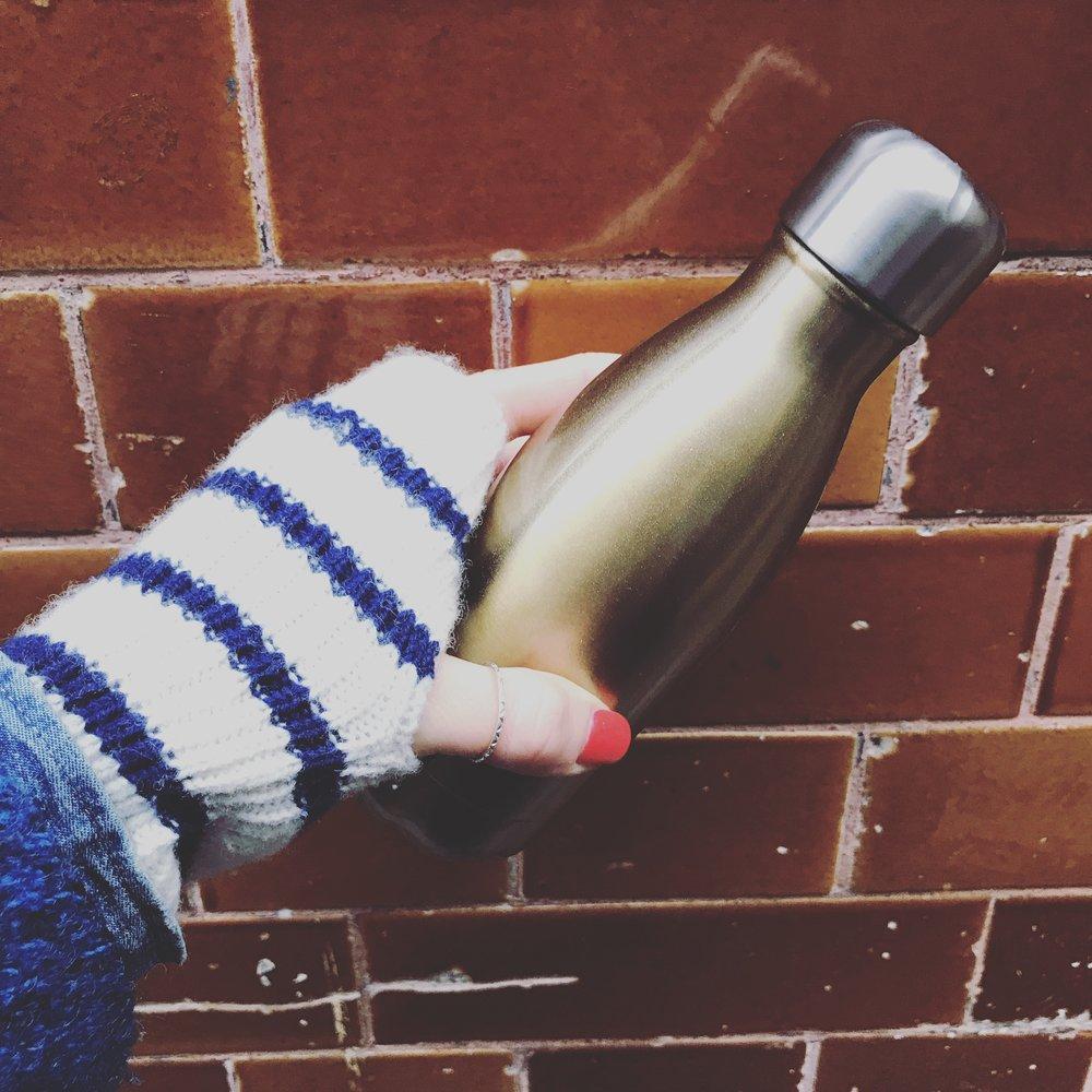 My trusty reusable water bottle.