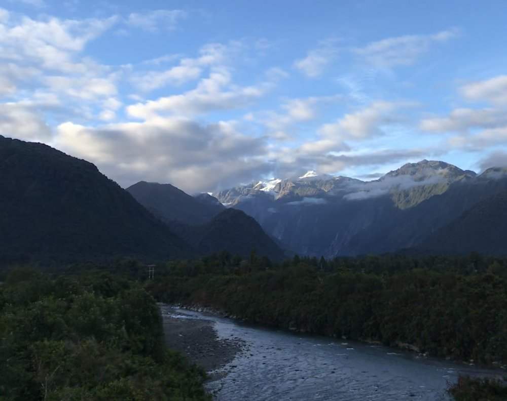 Along the drive from the sleepy seaside hamlet of Okarito to Franz Josef glacier, West Coast New Zealand.