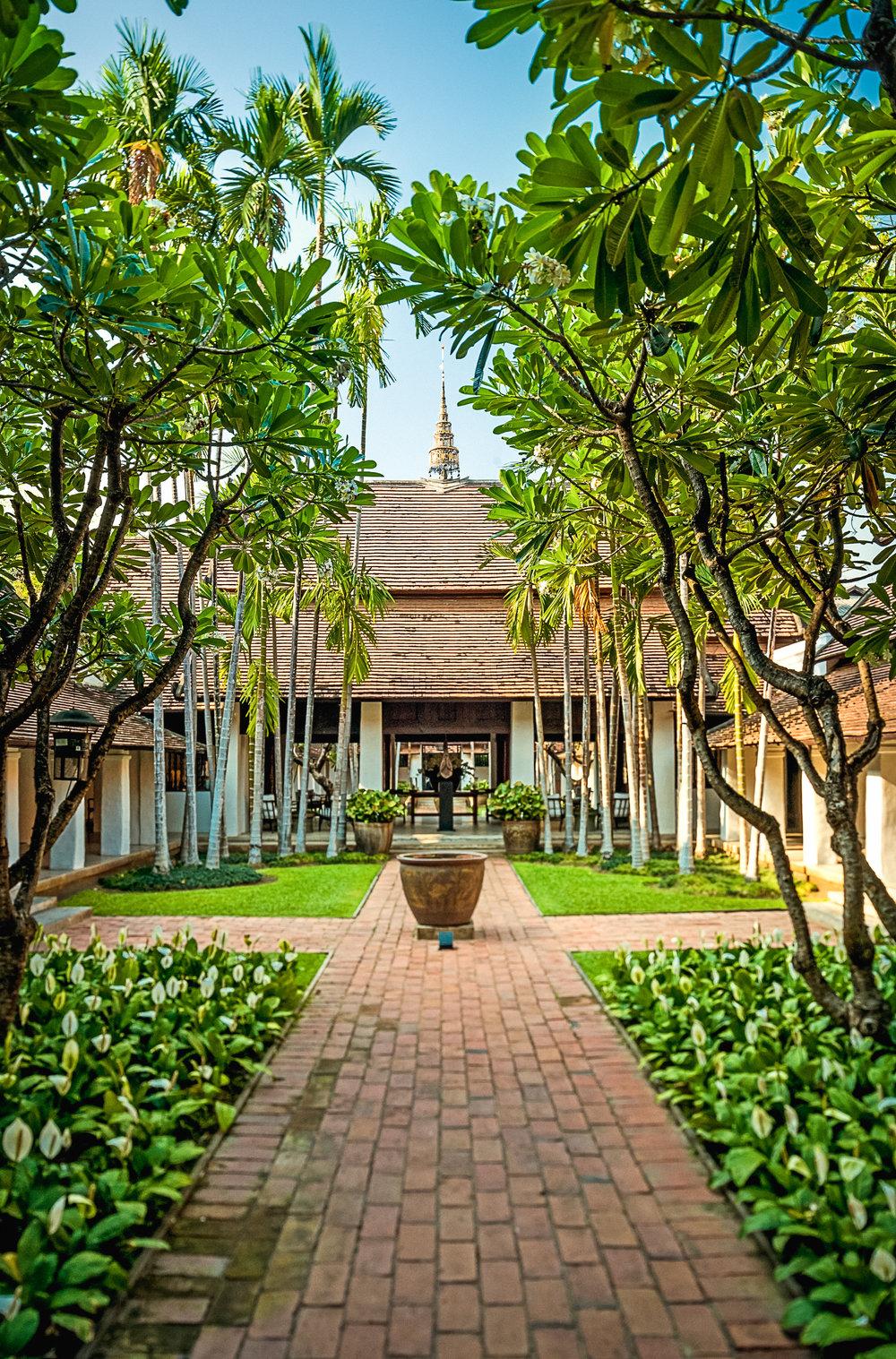 Rachamankha Boutique Hotel Courtyard Chiang Mai Thailand