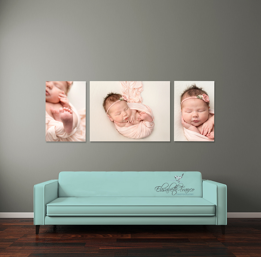 Newborn wall art, Elisabeth Franco Photography
