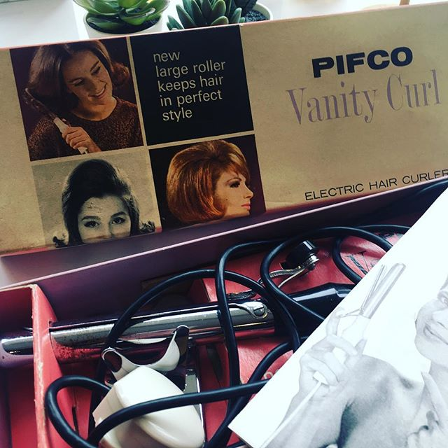 Aren't these amazing! Thanks so much! #prezzies #1950's #vintage #tongs #pifco #manchester #madeinengland #wellgroomed #amazingclients #grateful