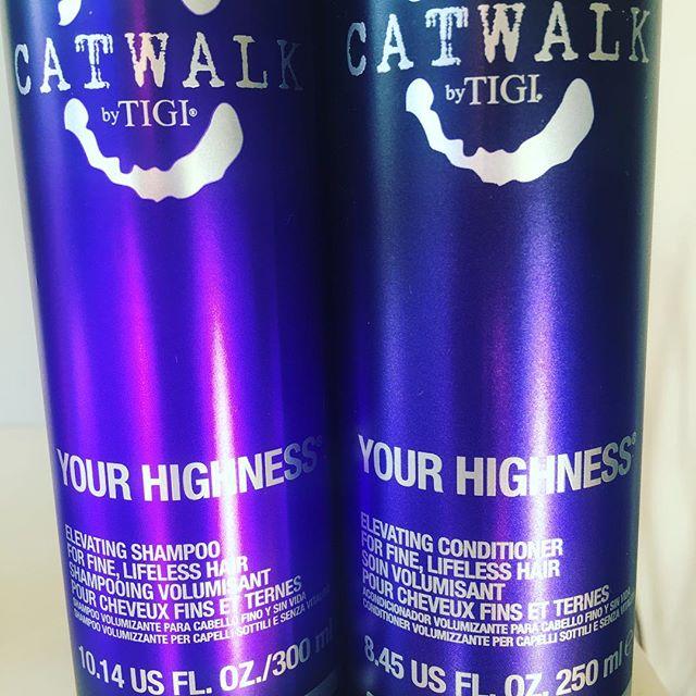 Up the volume on pancake day #yourhighness #tigi #catwalk #shampoo #conditioner #heathfield #volume #finehair