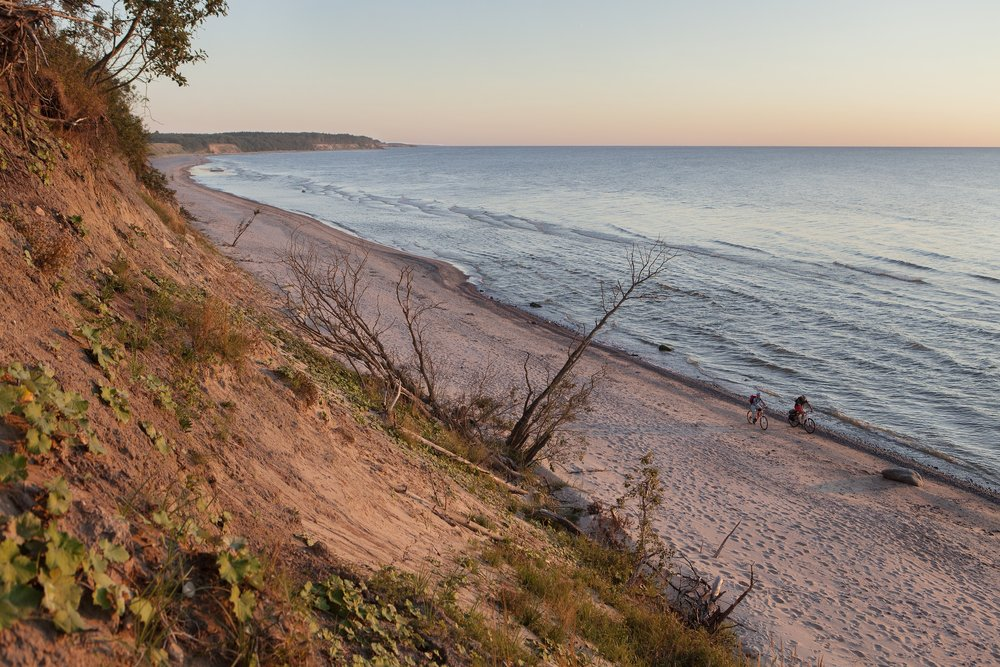 Cycling along Jūrkalne Steep Coast, Investment and Development Agency of Latvia, author Reinis Hofmanis