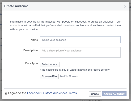 Name Facebook Custom Audience