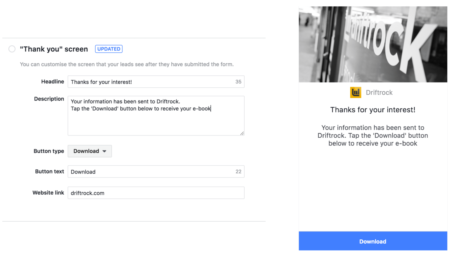 download facebook lead ads