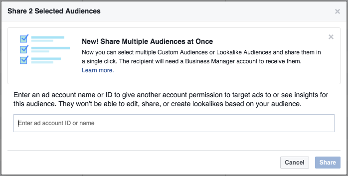 Facebook Share Multiple Audiences