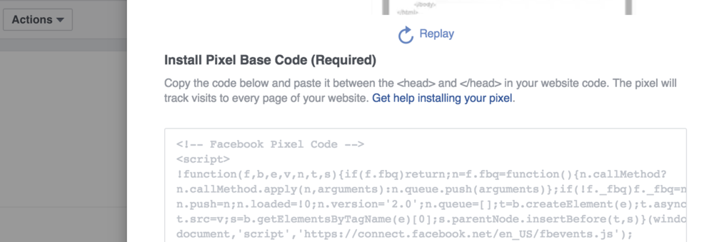 Working with Driftrock - Facebook Pixel Code