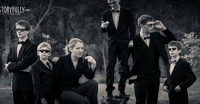 When the family photo shoot also includes black suits and sunnies. . . . . . . #perthphotographer #letstellyourstory #perthfamilyphotographer #meninblack #dressup