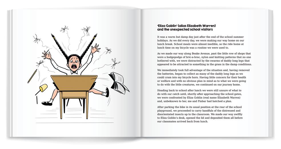 illustration school girl screaming book