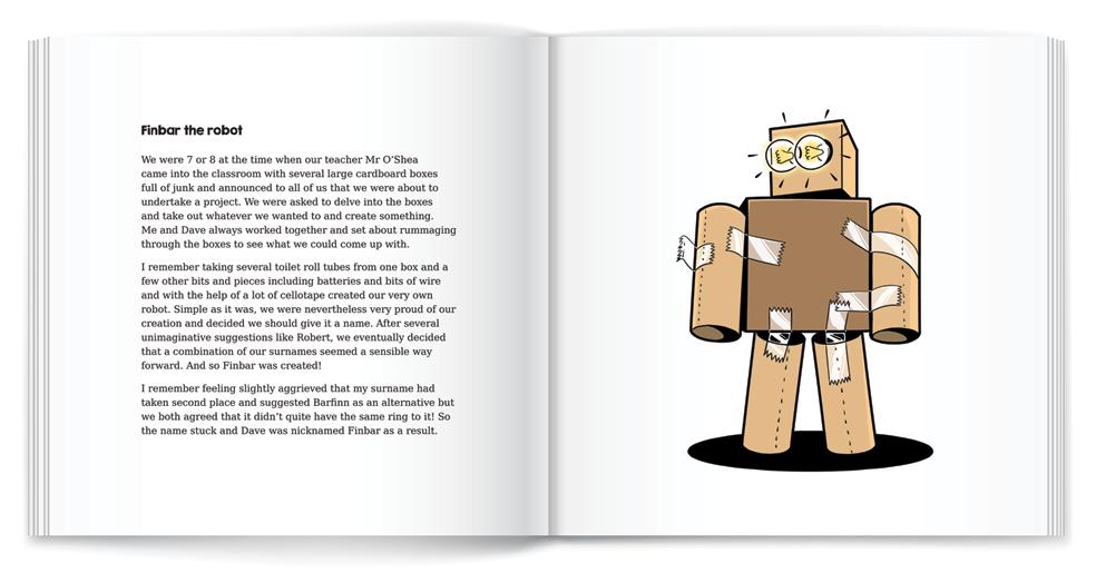 illustration robot book