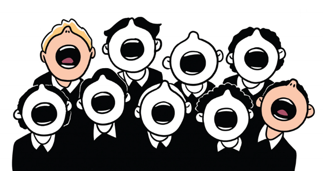 illustration choir boys