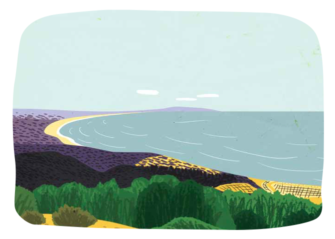 editorial illustration Hike