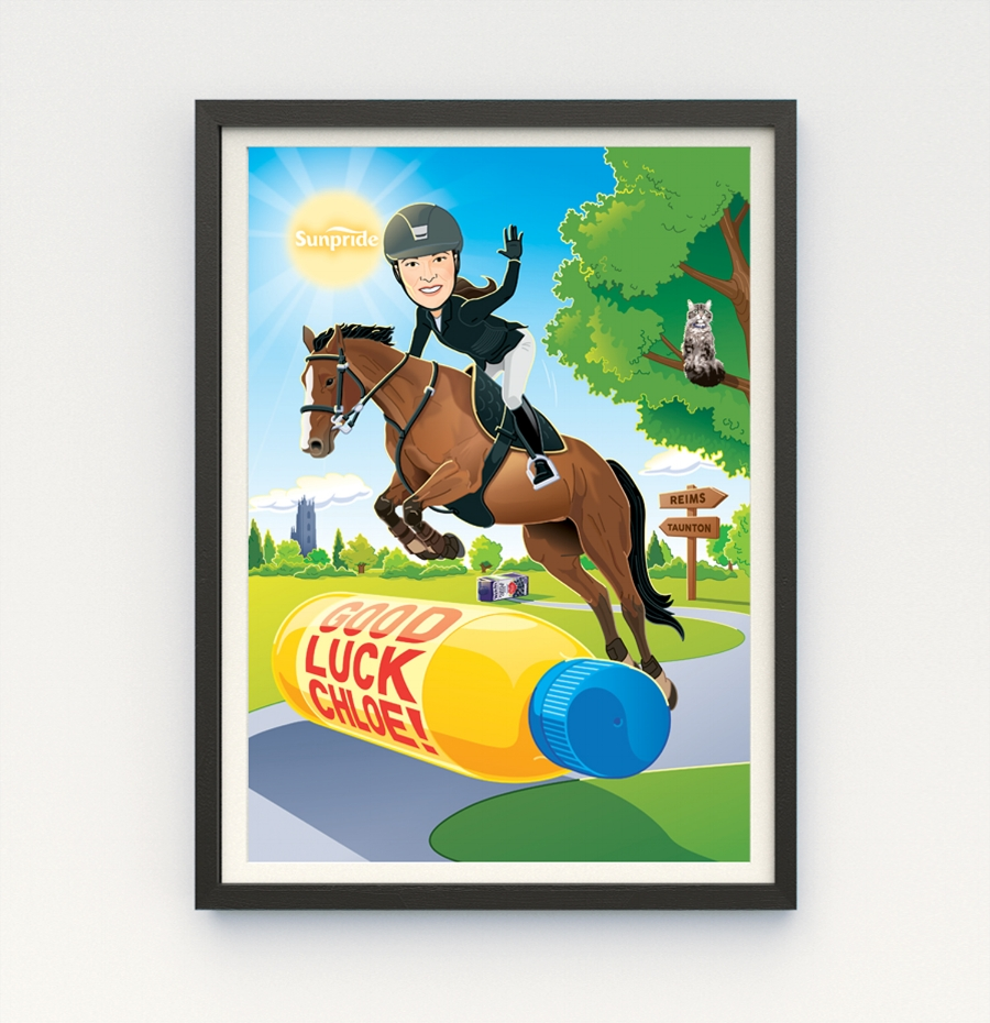 horse jumping illustration