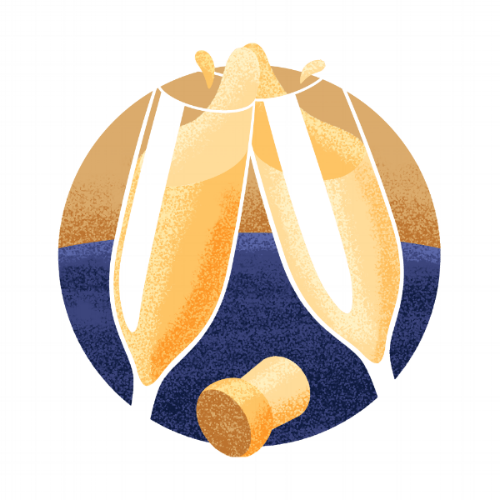 Champagne icon illustration