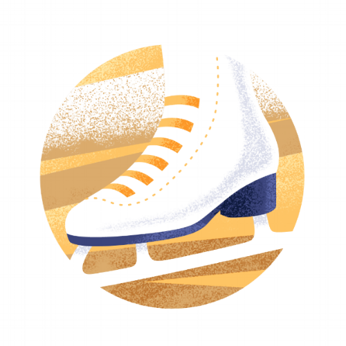 ice skate illustration