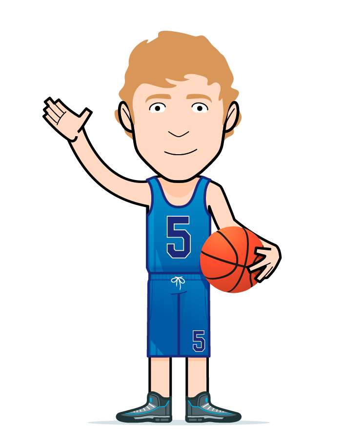 cartoon basketball boy