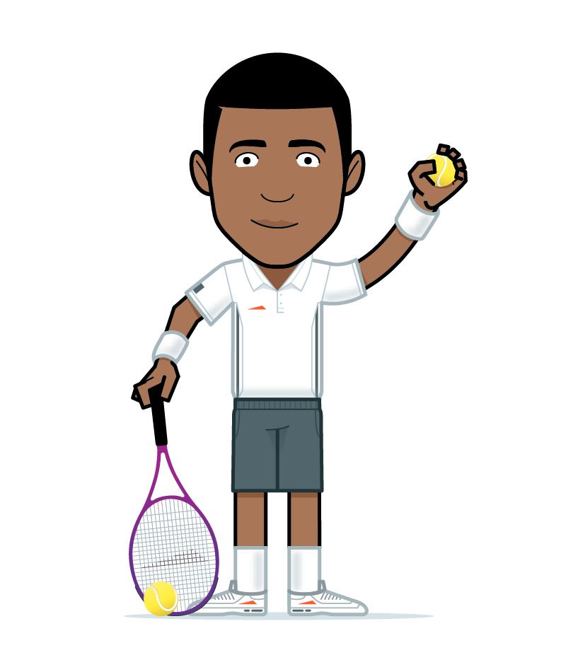 cartoon tennis boy
