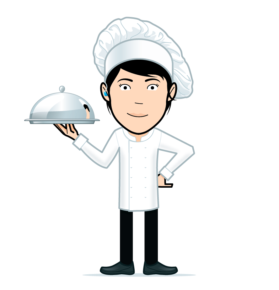 cartoon chef girl