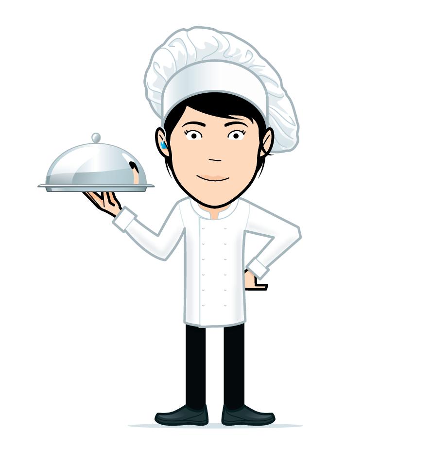 cartoon chef girl