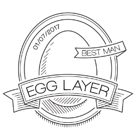 egg badge illustration