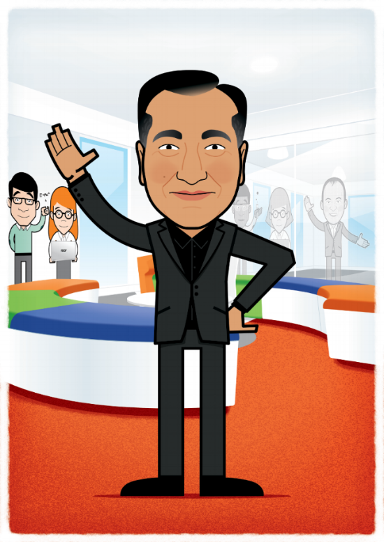 illustration avatar cartoon man