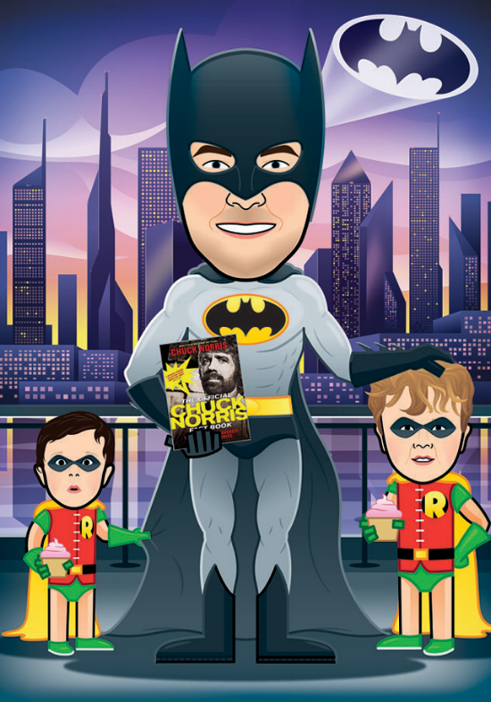 illustration avatar cartoon batman