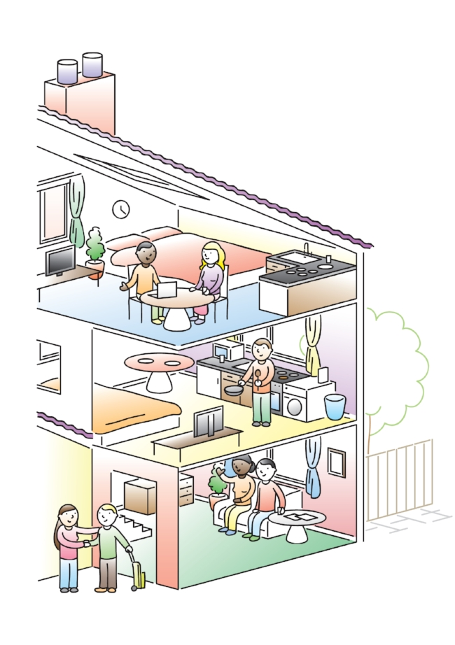 cartoon house isometric