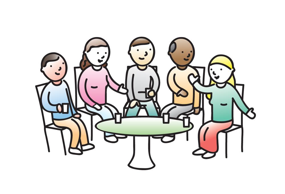 cartoon meeting
