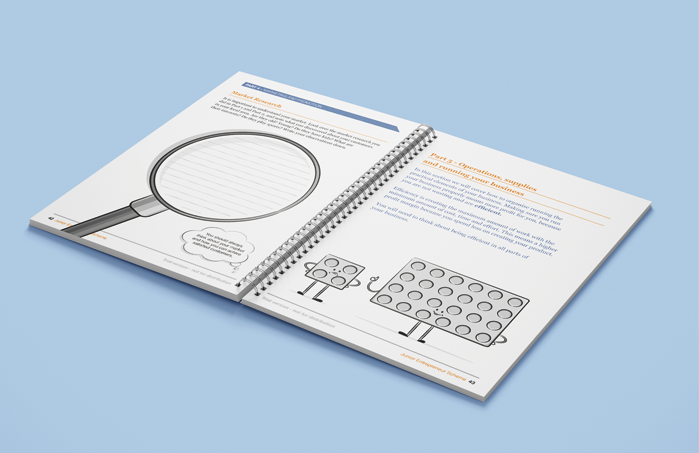 double page spread design