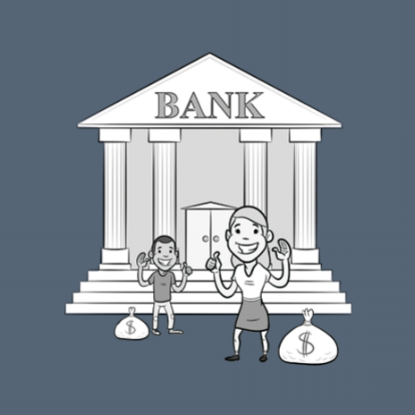 bank cartoon