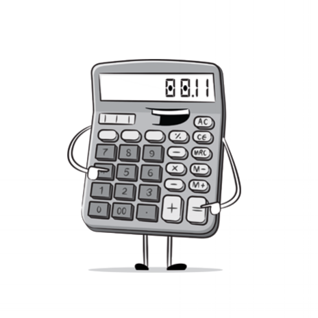 calculator cartoon