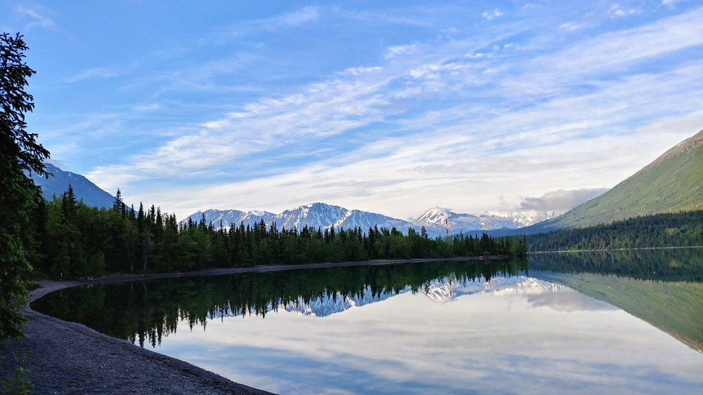 A quiet morning on Kenai Lake - Quartz Creek Campground
