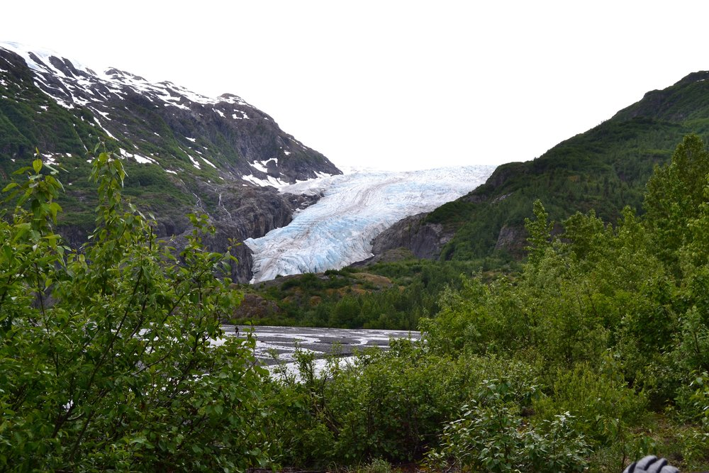 A view of Exit Glacier on the way up to get a closer look - Kenai Fjords National Park