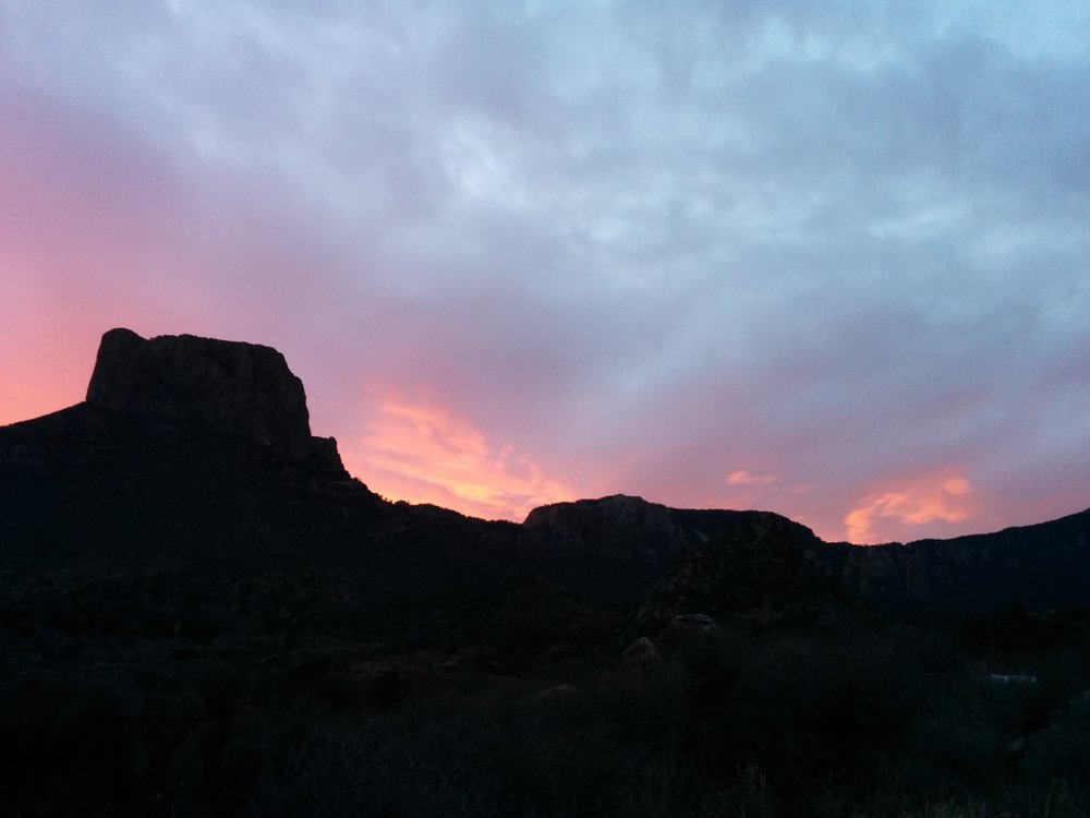 Morning views from the campsite in Chisos Basin Campground