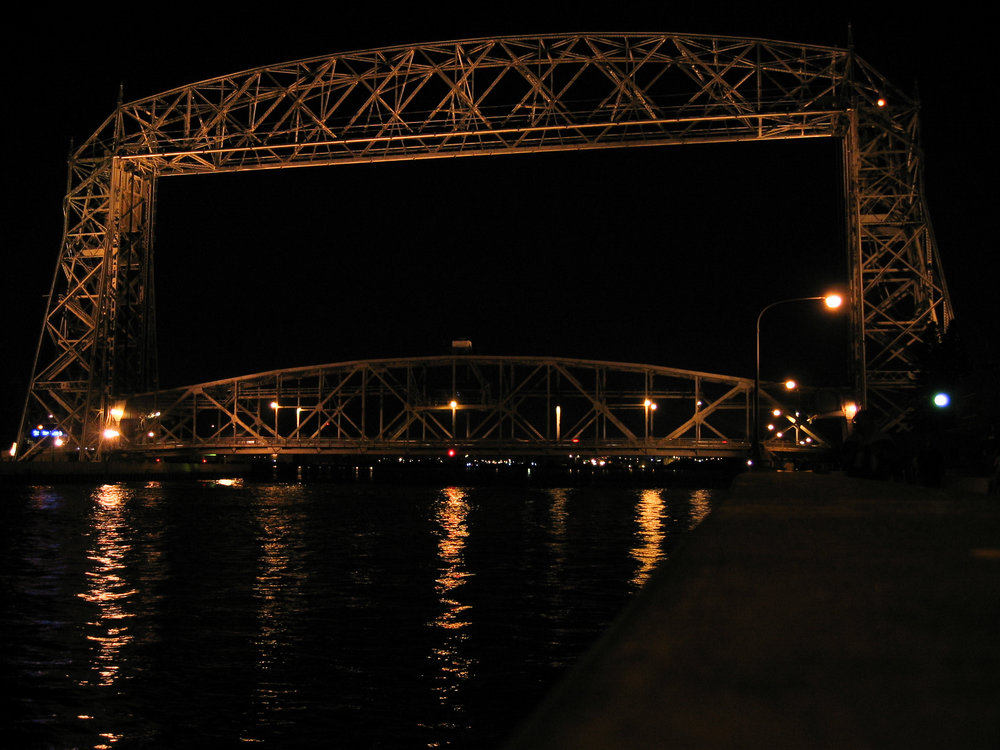 Duluth Aerial Lift Bridge - our last night in Duluth before heading back to Michigan
