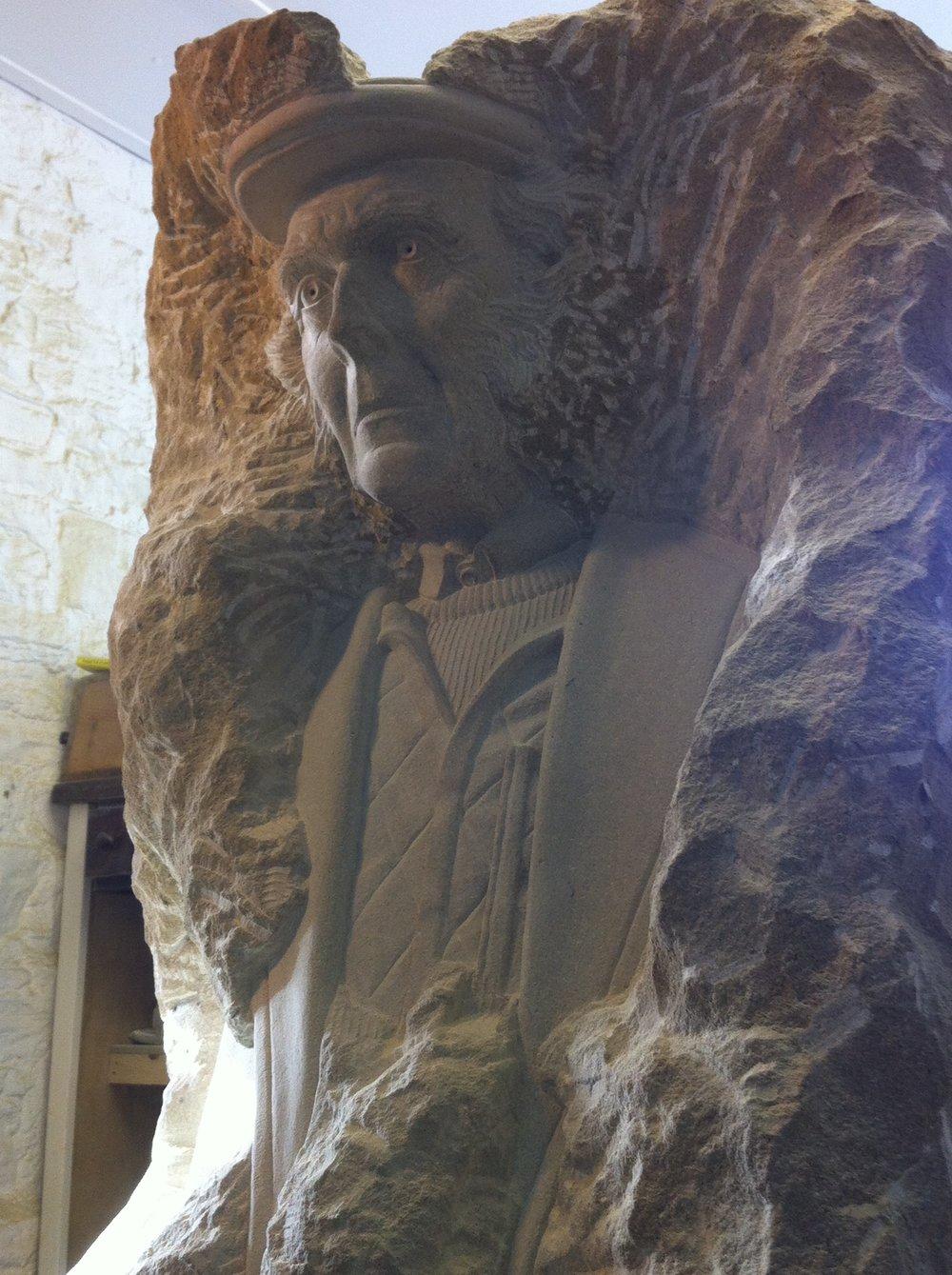 Shepherd in York Stone