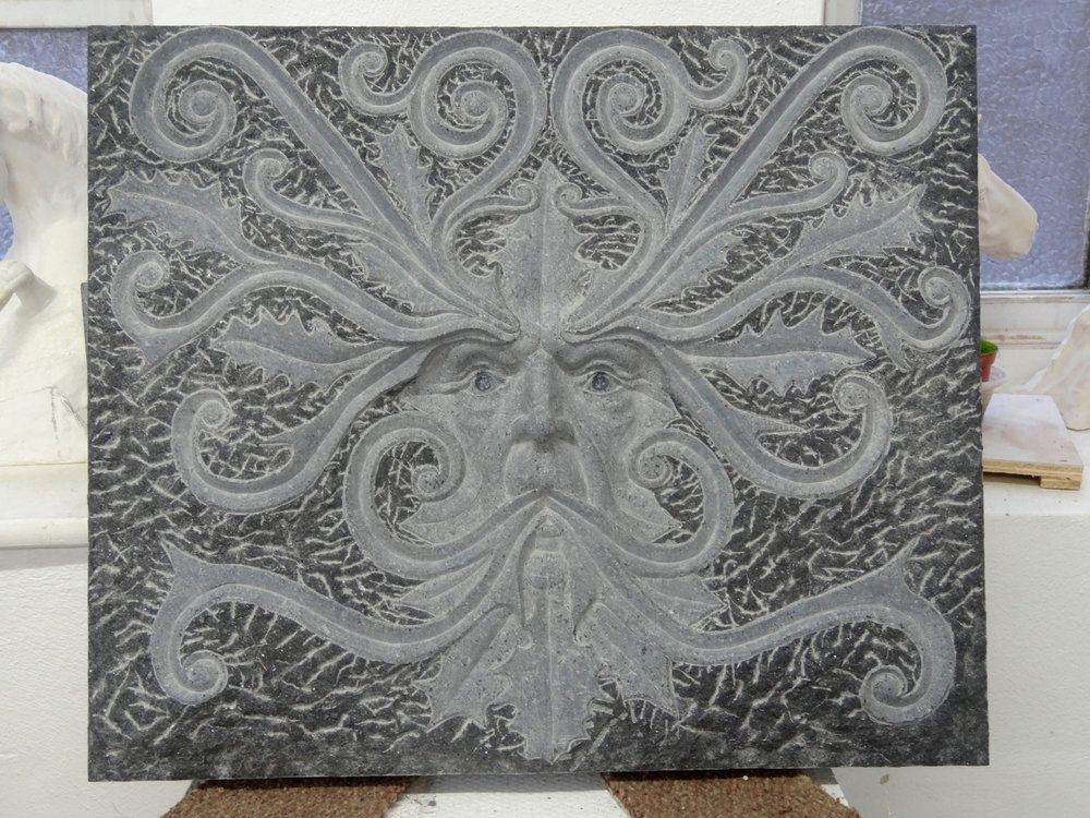 Green man in Killkenny limestone