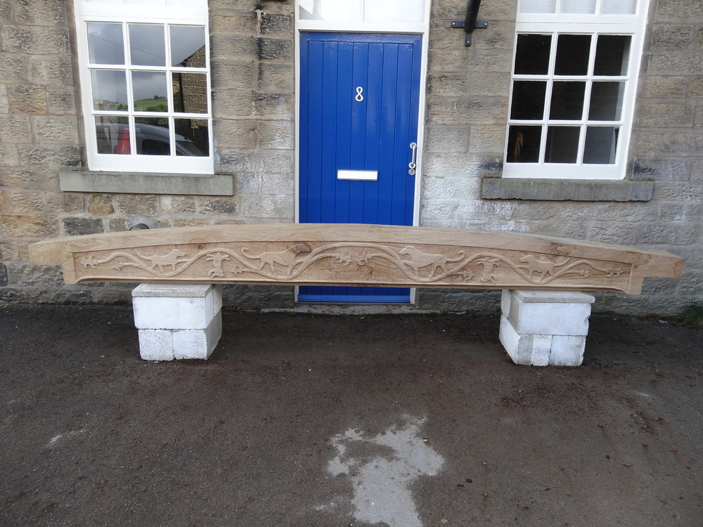 Bressumer Beam for Kirklees priory in Oak