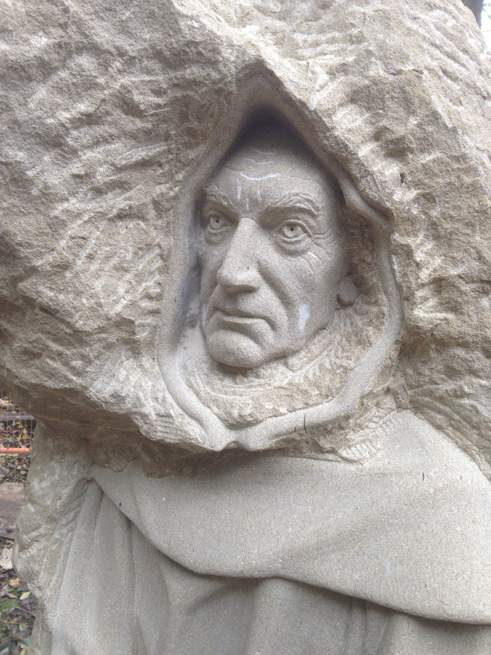 Monk in York stone