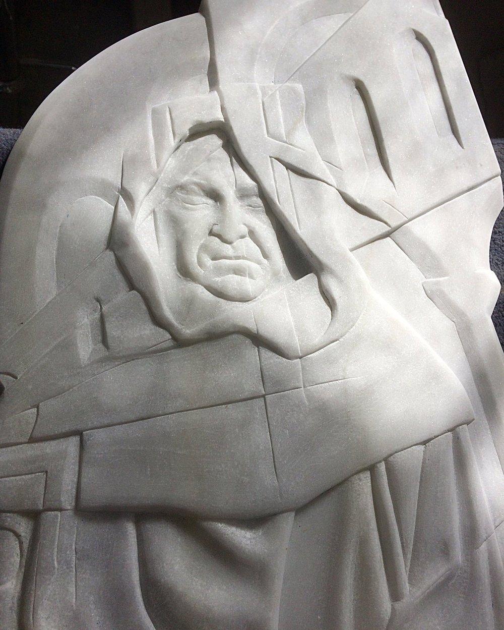 Dissolution I in Italian marble
