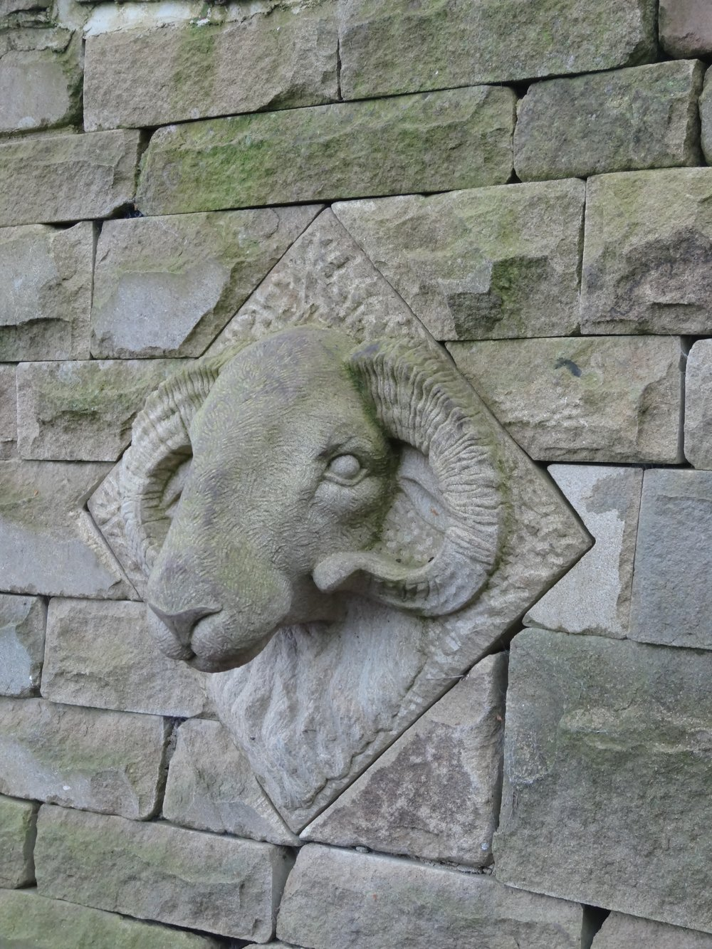 Ram carved for fountains Abbey