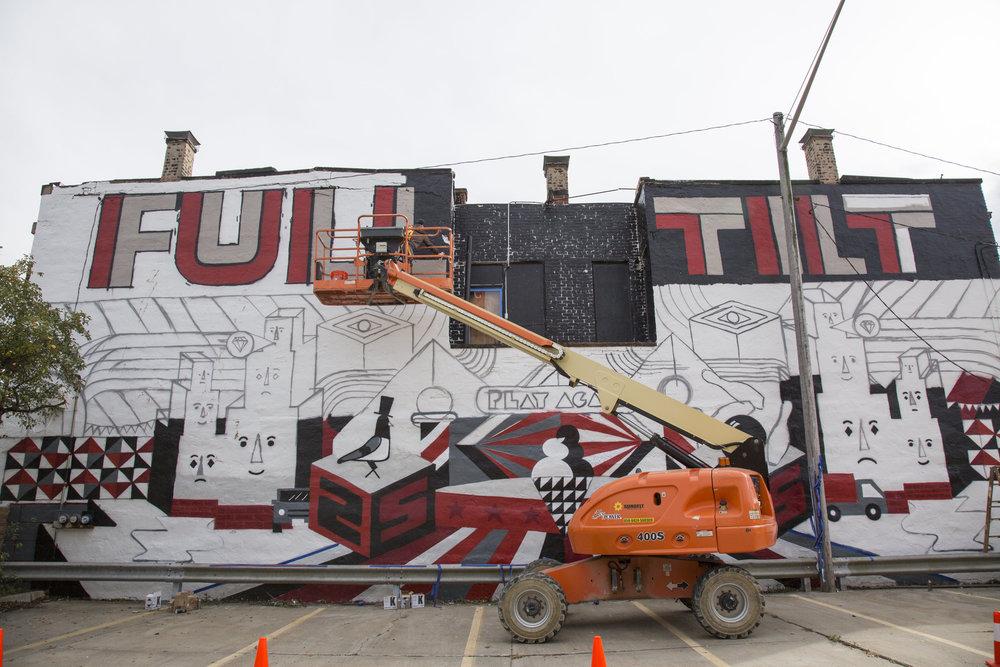 Installation of Ryan Jaenke's,  Full Tilt , image by Pickled Pin-Up Photography.