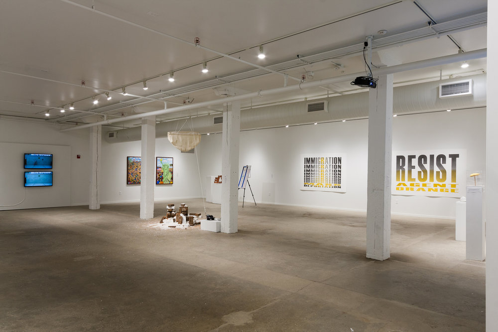 Installation view. Image by Jerry Mann courtesy of SPACES.