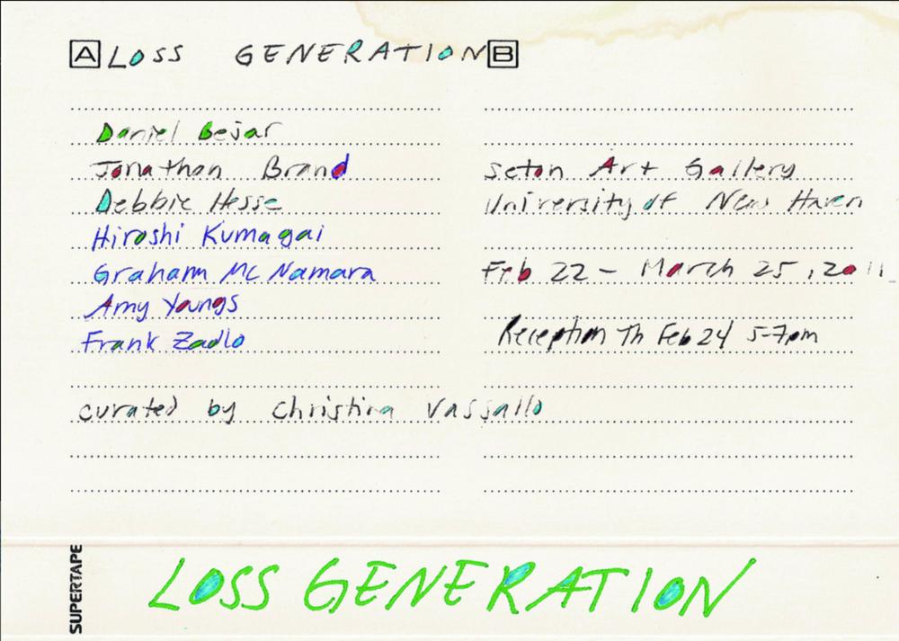 Loss Generation  exhibition announcement