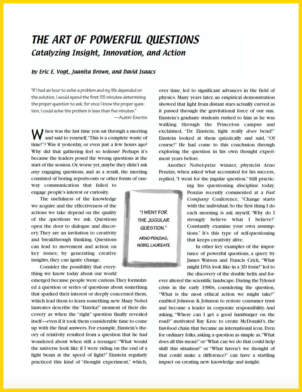 ARTICLE: The Art of Powerful Questions