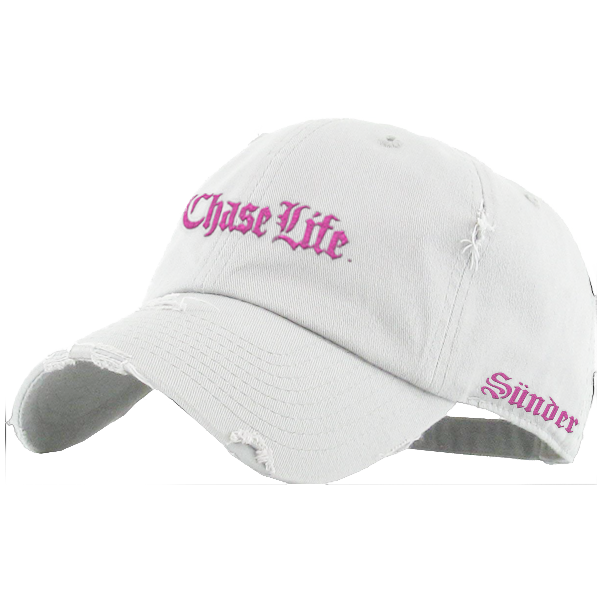 61501f5477d White Distressed Dad Hat — SÜNDER
