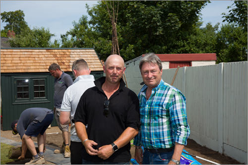 Mark Hart with Alan Titchmarsh ITV
