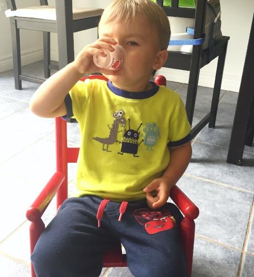 kids love fizzy drink of kefir and kombucha